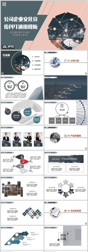 公司企業文化宣傳PPT通用模板