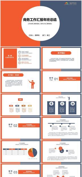 橙色商務風教育咨詢工作匯報總結計劃PPT模板