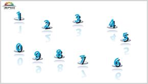 藍色立體自然數字可編輯圖片PPT模板