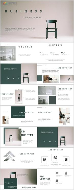 創意極簡室內設計工作匯報PPT模板