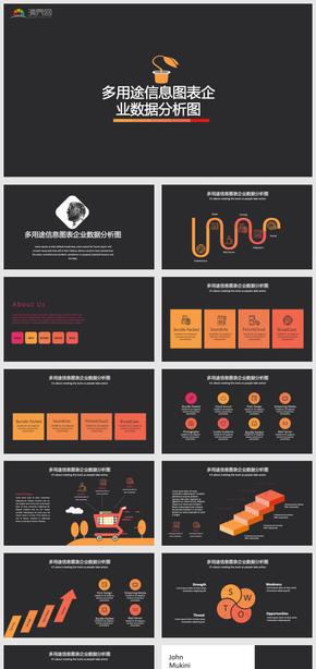 多用途信息圖表企業數據分析圖