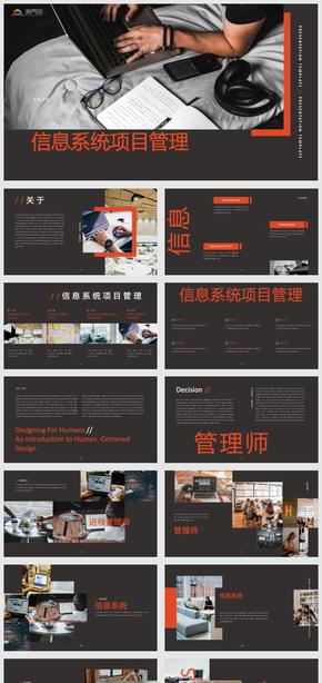 信息系統項目管理(li)商務簡(jian)約匯(hui)報ppt