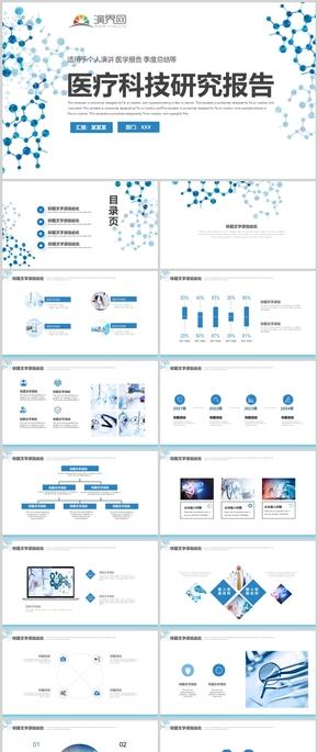 醫療科技研究報告ppt模板