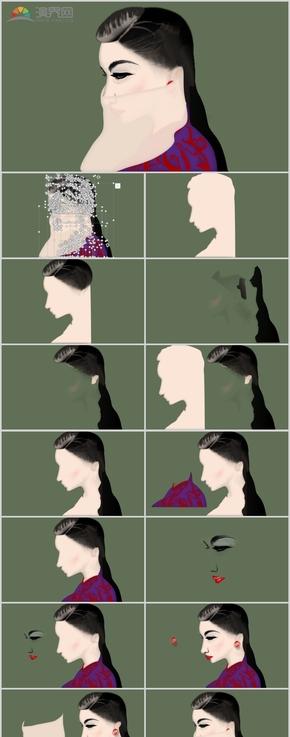 PPT圖繪:復古美女