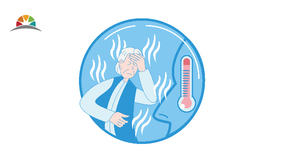 2020年藍色插畫醫療健康發燒高燒矢量圖1
