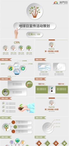 微粒體環境保護活動宣傳策劃PPT模板