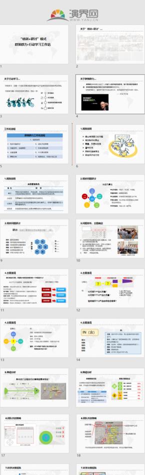 培訓+研討模式 行動學習工作坊流程