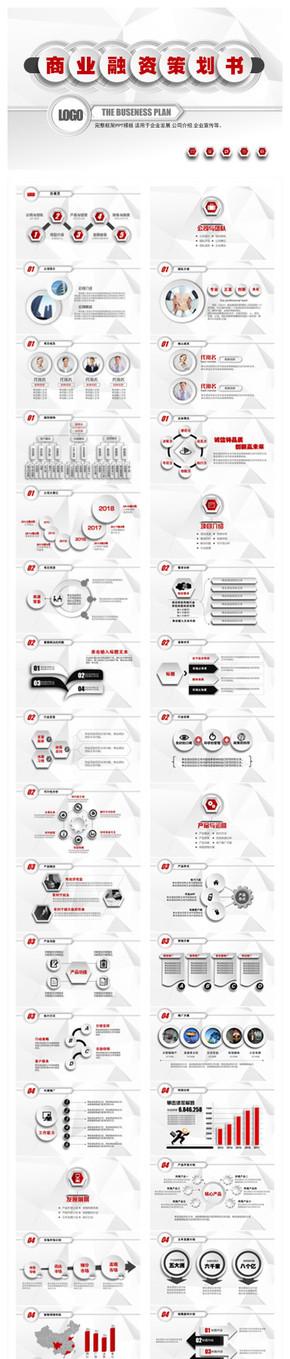 商务融资策划书PPT模板(适用于公司介绍、企业宣传、企业发展)