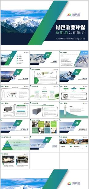 绿色渐变环保商务新能源公司业务简介
