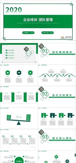 企业培训/企业管理PPT模板