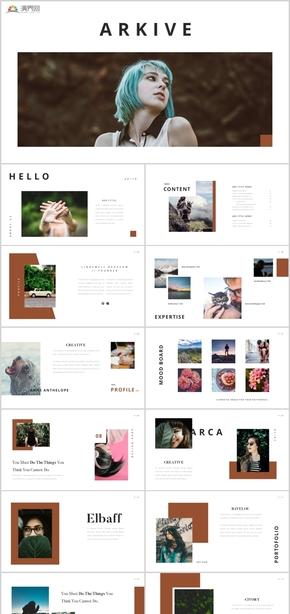 高端簡潔歐美雜志攝影藝術畫冊影視電影電影雜志旅游酒店簡潔歐美雜志藝術PPT模板
