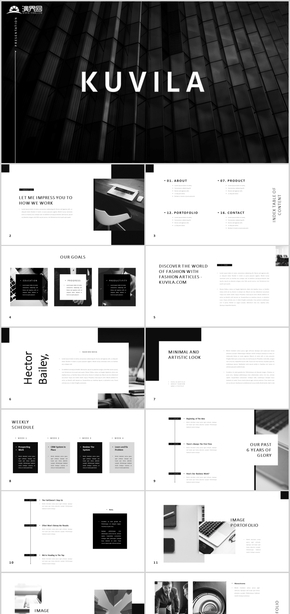 黑白设计极简主义北欧商务汇报精美简约公司介绍商业计划书时尚策划计划总结品牌企宣公司简介创意PPT模板