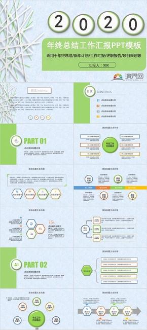 商务报告年度计划PPT模板