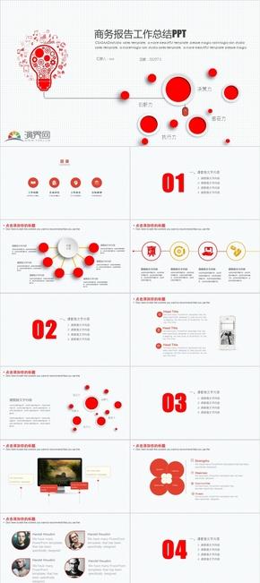 商务报告计划总结PPT模板