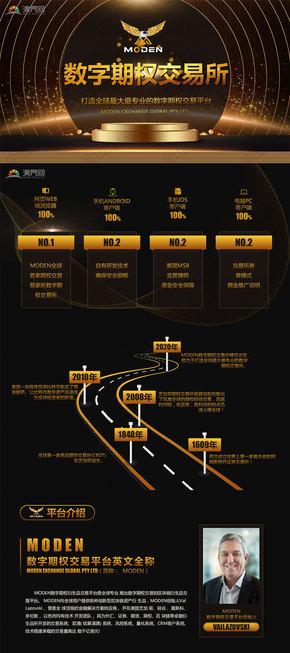 黑金互联网金融投资区块链数字货币PPT模板
