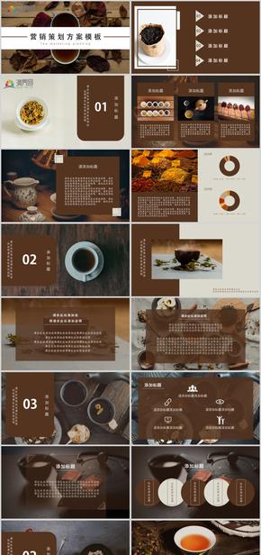 商业策划模板,茶叶公司策划展示模板