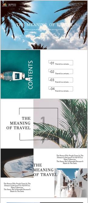 歐美雜志風時尚旅行PPT模板