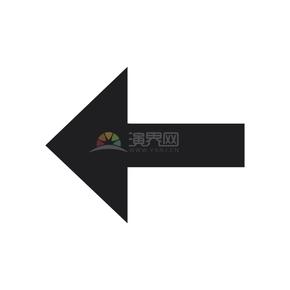 简洁创黑色意向左指向箭头卡通图标