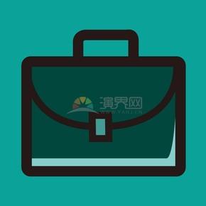 深綠色商業包圖標矢量素材