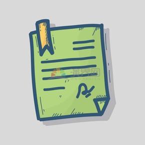 手绘风便签教育办公元素