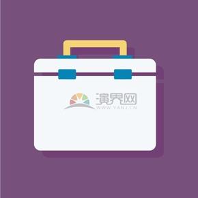紫色背景医药箱图标矢量素材