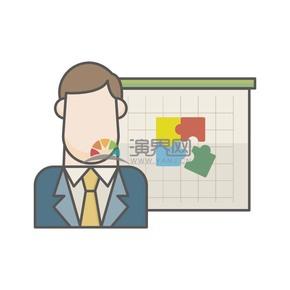 商務商業辦公人物圖標
