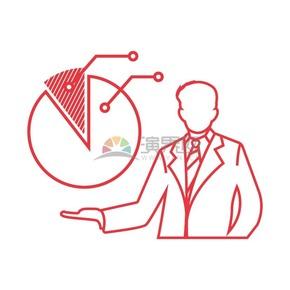 商业分析图标矢量图素材