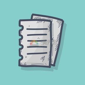 手绘风笔记本纸素材