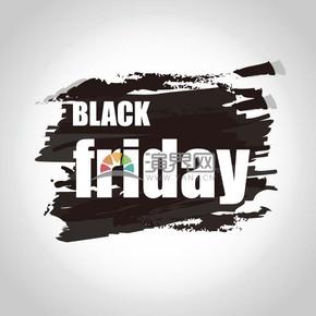 商业促销黑色星期五黑色墨迹图标矢量图素材