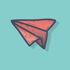 手绘风纸飞机学习教育素材