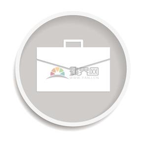 商业公文包图标矢量图素材