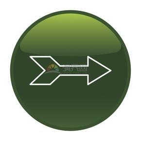 绿色简洁创意向右箭头卡通图标