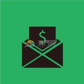 趣味活泼简约清新黑色金融金钱交往交易卡通图标