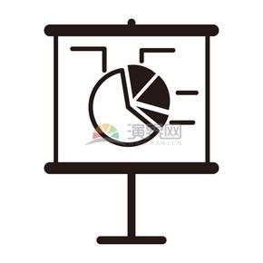饼状图数据研究商业图标矢量素材
