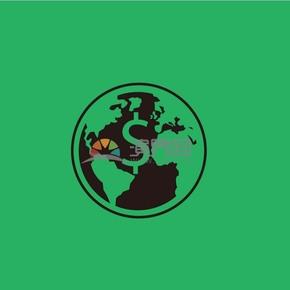 趣味活泼简约清新黑色金融商务全球化经济卡通图标