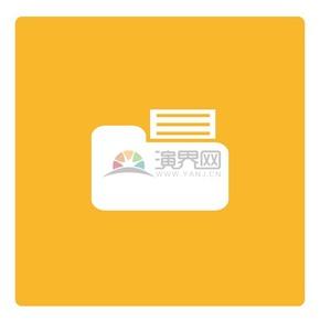 黄色背景商业图标矢量素材