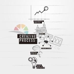 黑色商业商务办公创新想法结果分析头脑风暴图标合集
