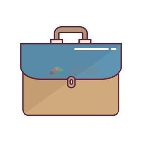 商业公文包图标矢量素材