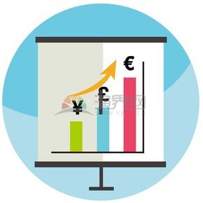 金融财务分析展示板矢量图标