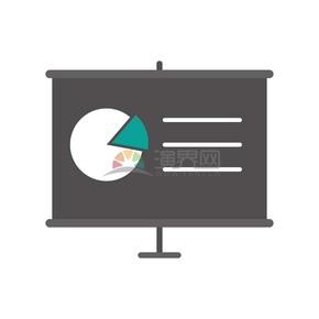 饼状图数据分析报告商业图标矢量素材