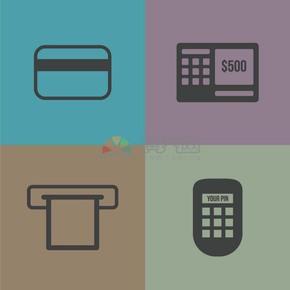 卡通金融商業圖標合集