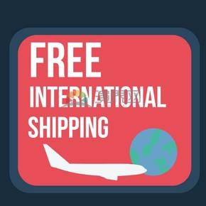 卡通简约促销免费国际航运标签插图