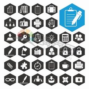 黑白图标卡通商业元素创意设计合集