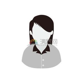 卡通职业装职场人物女性插图