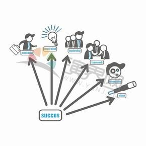 商業商務成功取得成績要素創意圖標合集