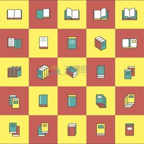 彩色书本图标创意设计合集