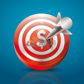 目标靶子金融命中红心矢量图标