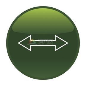 简洁创意绿色双向箭头标识卡通图标