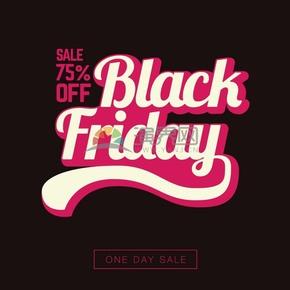 黑色星期五75%优惠折扣素材