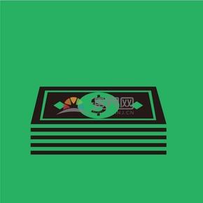 趣味活泼简约清新黑色金融商业货币钱币卡通图标
